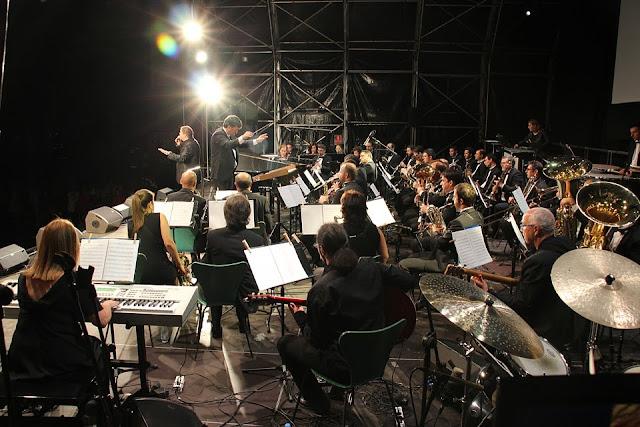 Actuación de la Banda de Música en las fiestas de Barakaldo