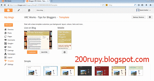 Remove Powerd by blogger