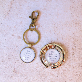 image domum vindemia scoring wilder quote literature she believed she could so she did keyring keychain purse hanger bag hook handmade