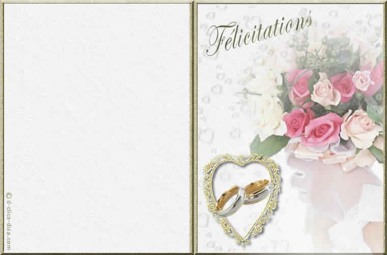 Assez Carte d invitation de mariage gratuit a imprimer – Meilleur blog  LT48