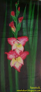 flowers oil painting by nimisha k