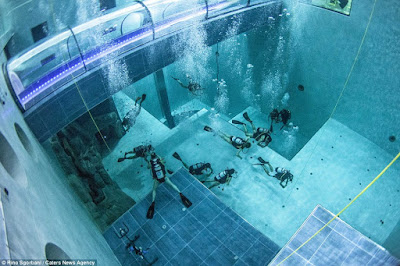 Deep Joy; See Incredible Photos Of The World's Deepest Swimming Pool.