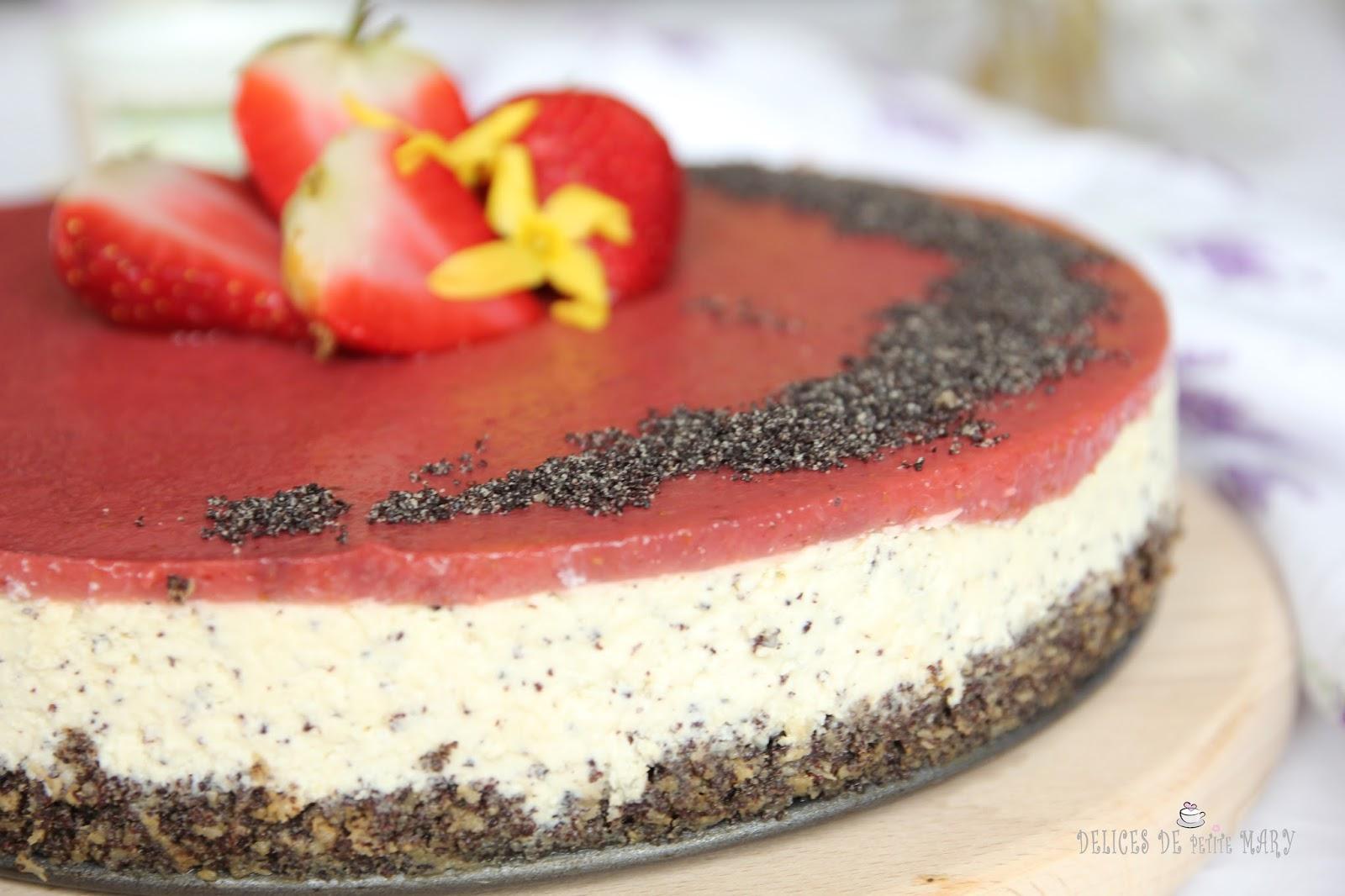 Délices de Mary: Makový cheesecake