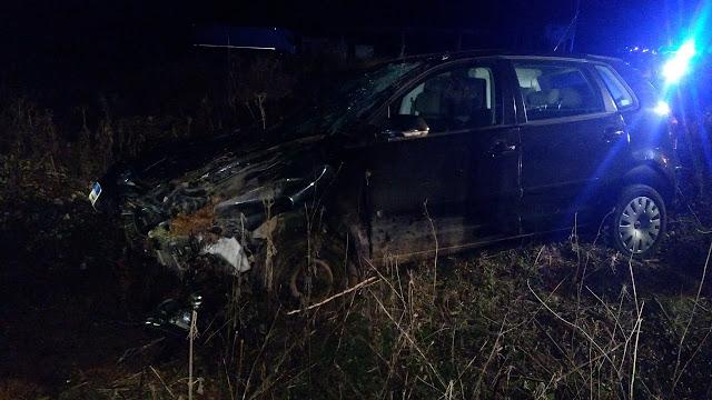 Τροχαίο ατύχημα στο Καρτέρι - Οδηγός ΙΧ τράκαρε σκύλο και βρέθηκε σε χωράφι