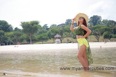 San Yati Moe Myint at santosa beach singapore