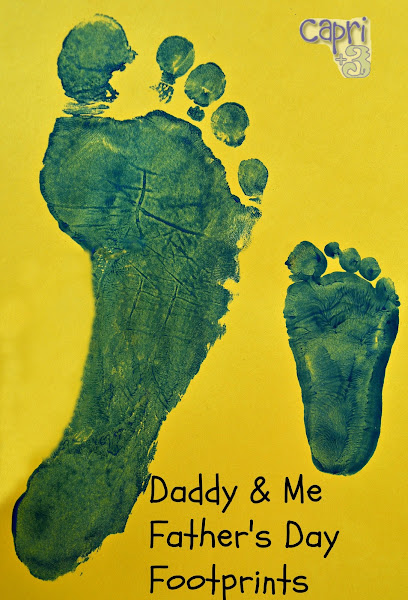 Daddy and Me Footprints Craft
