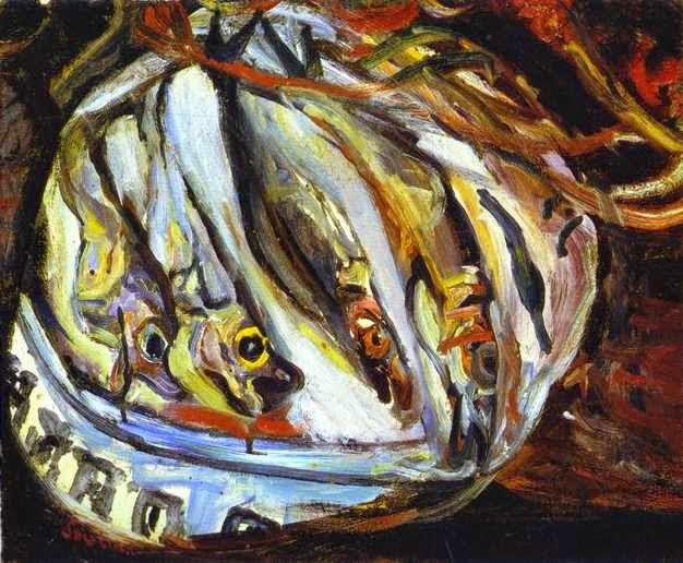 Natureza Morta com Peixes - Chaïm Soutine e seu expressionismo violento e atormentado