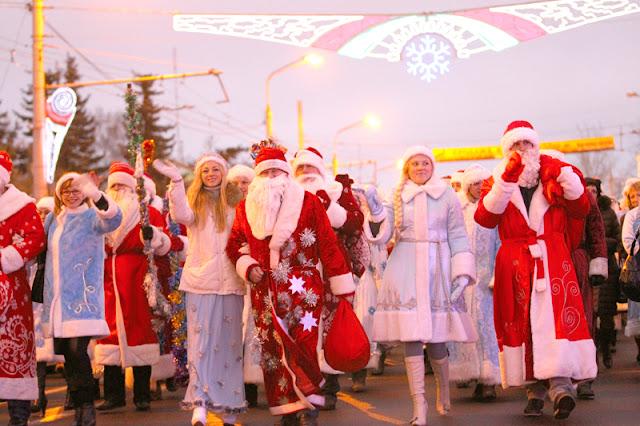 Парад Дедов Морозов в Чебоксарах