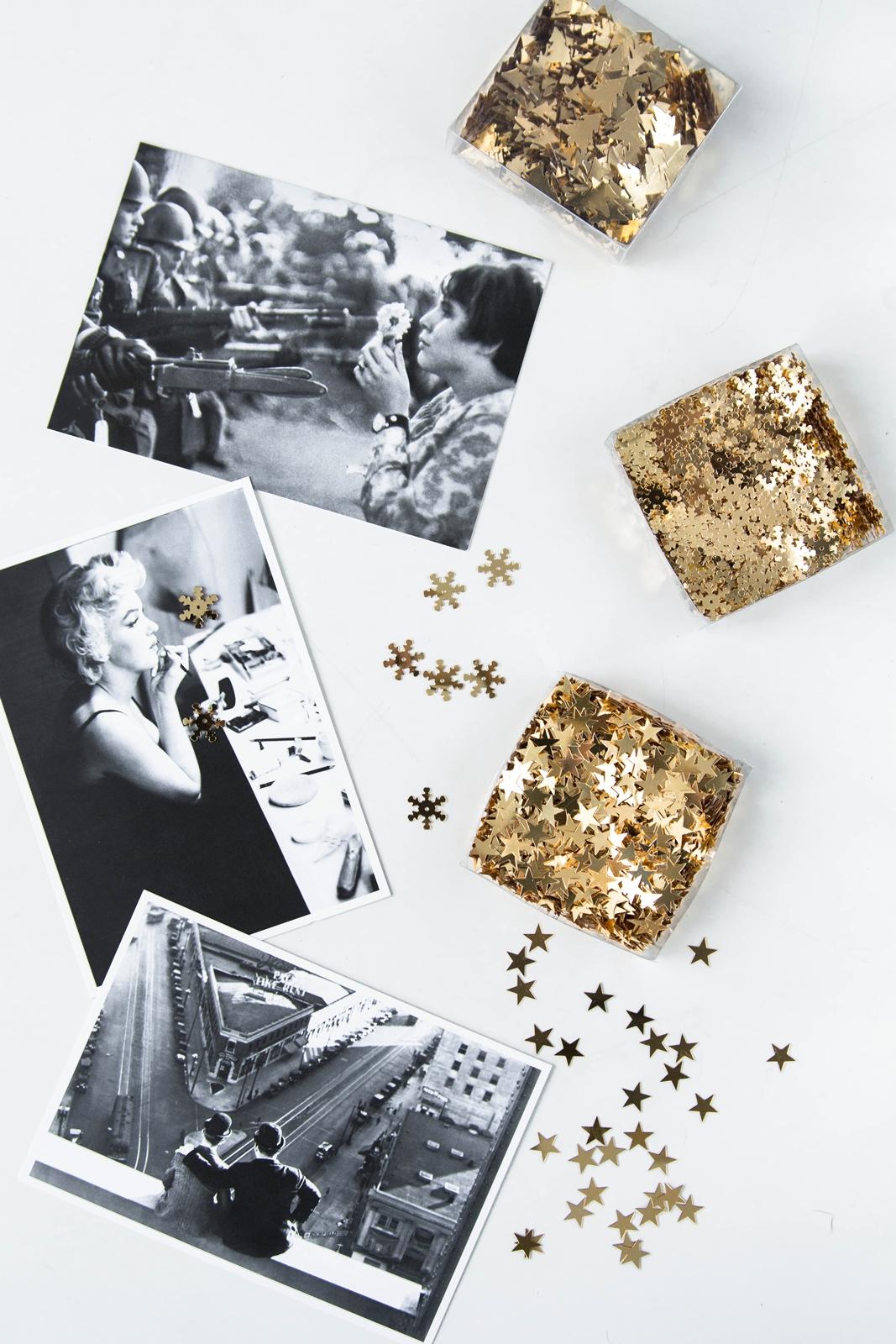 Weihnachtskarten in Schwarz Weiß zum Selbermachen