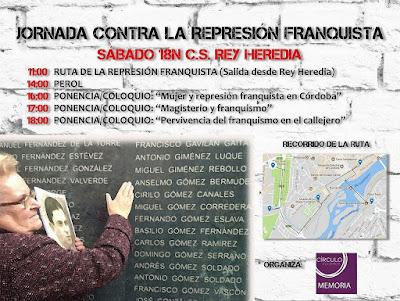 """""""JORNADA CONTRA LA REPRESIÓN FRANQUISTA"""""""