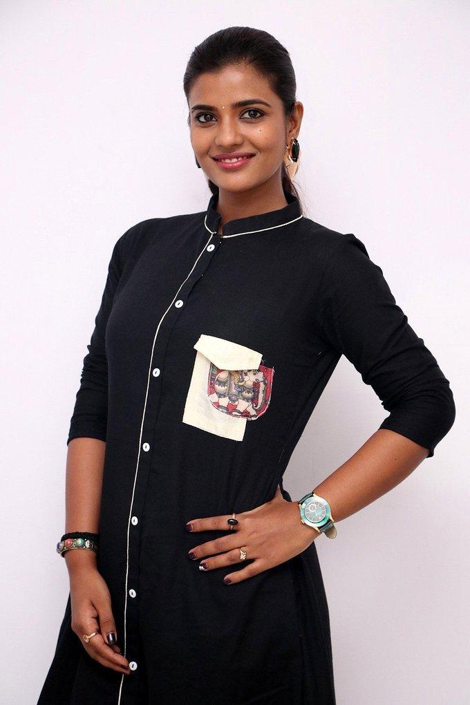 Aishwarya Rajesh at Gemini Ganeshanum Suruli Raajanum Team Interview