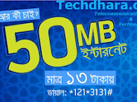 Grameenphone 50 MB internet data at only Tk. 13 for 1 day