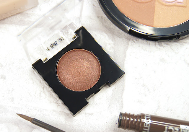 collection work the colour baked bronze solo eyeshadow review swatch
