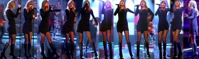 Taylor Swift Video Minivestido Con Botas
