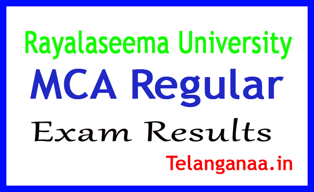 Rayalaseema University MCA Regular 2018 Exam Results