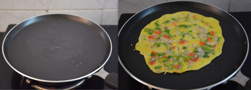 Egg Vegetable Omelette Recipe