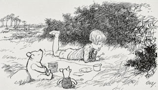 Christopher Robin, Winnie-the-Pooh and Piglet illustrated by E. H. Shepard
