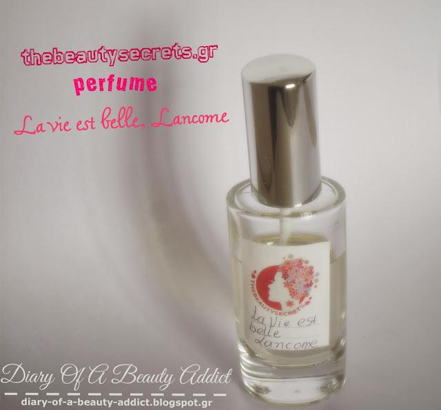 THEBEAUTYSECRETS.GR perfume (la vie est belle,lancome)