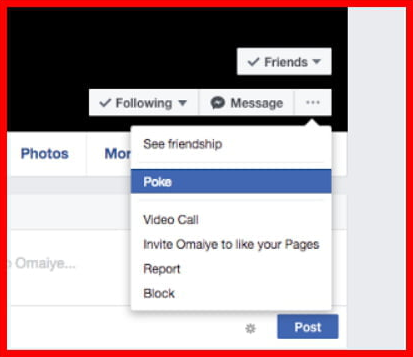 Poking On Facebook