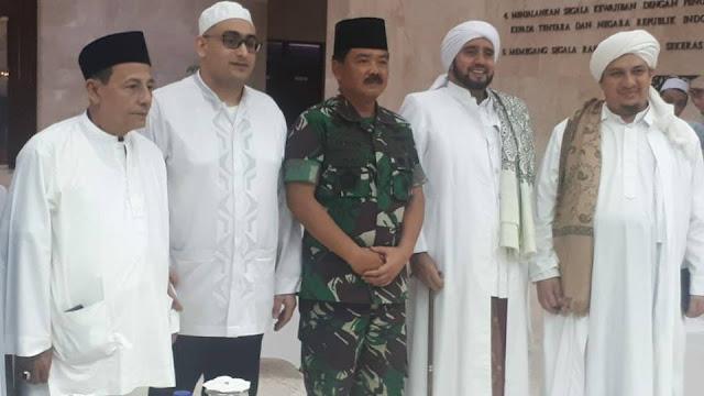 Habib Luthfi, Habib Syech dan Habib Ahmad Hadiri Doa Bersama pada HUT TNI ke-73