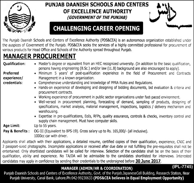 Jobs In Daanish Schools Lahore Punjab 10 June 2017