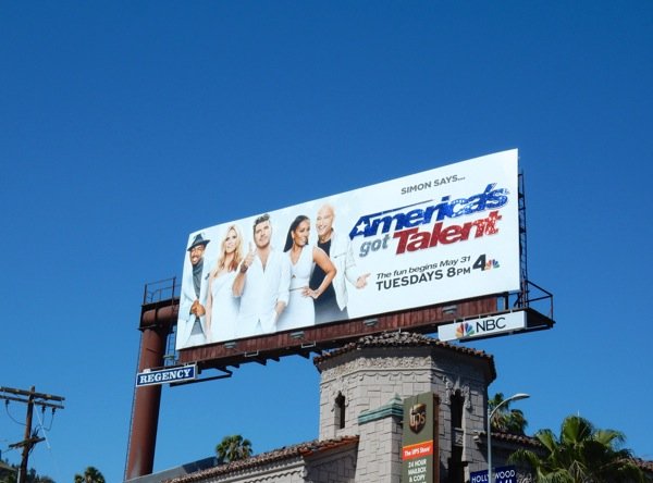 Americas Got Talent 11 glittering logo billboard