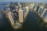 Aerial view of sea side Miami. (Photograph Credit: George Steinmetz, National Geographic Creative) Click to Enlarge.