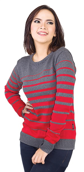 Sweater Wanita Motif Garis INFICLO Original
