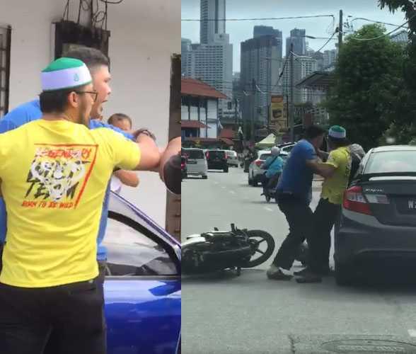 Video penunggang motosikal memukul pemandu wanita yang 'bagi signal'
