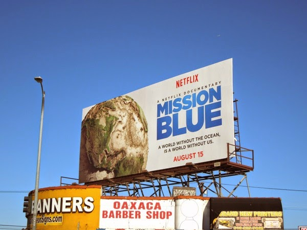 Mission Blue film billboard