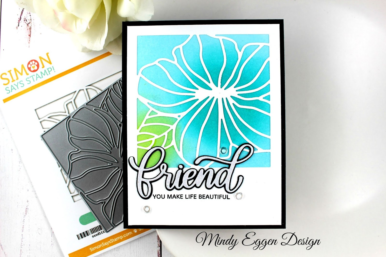 Hibiscus Frame Simon Says Stamp Mindy Eggen Design