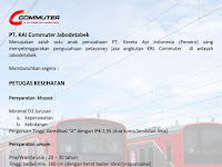 Lowongan Kerja KAI Commuter Jabodetabek Desember 2016 - Petugas Kesehatan