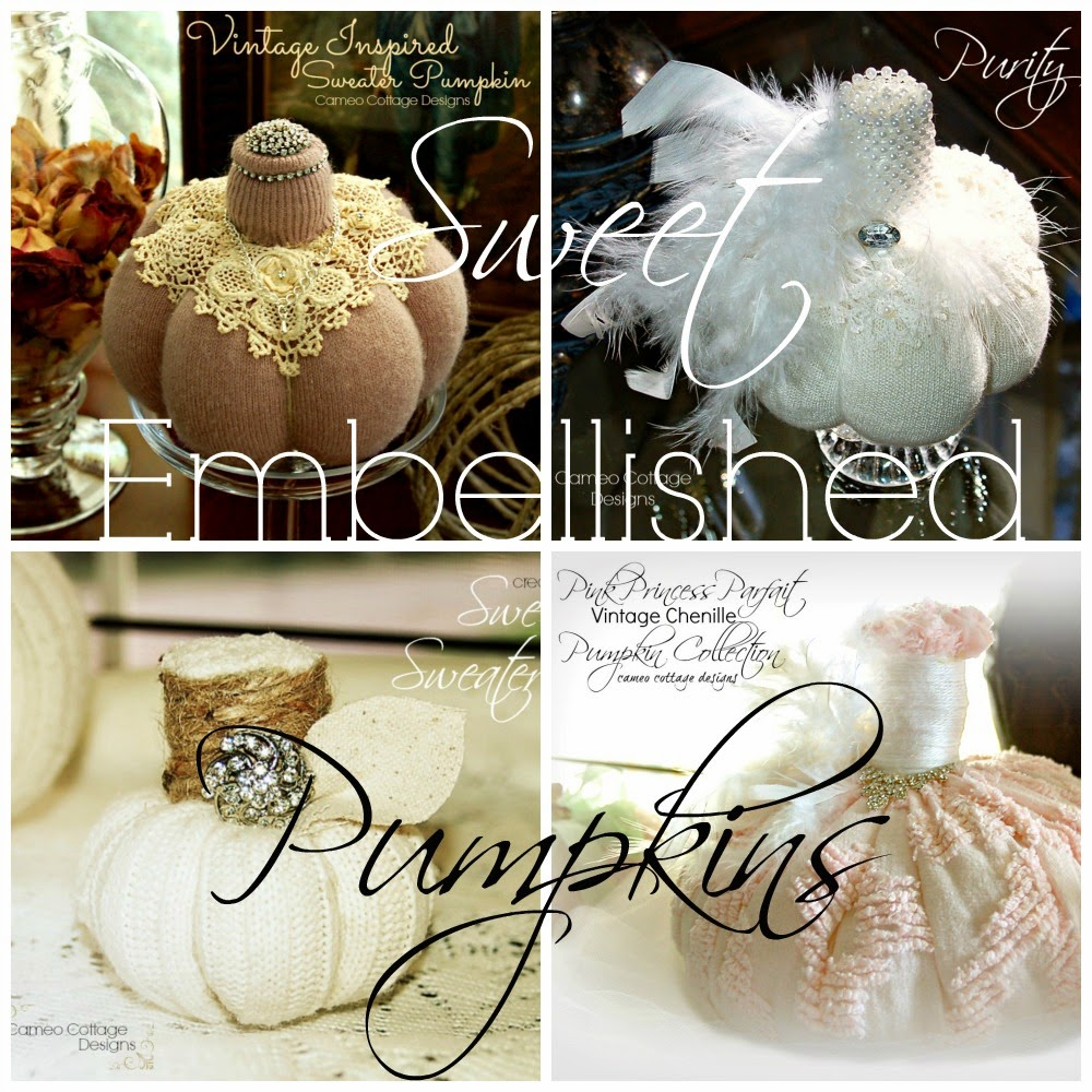 Sweet and Chic Embellished Sweater Pumpkins