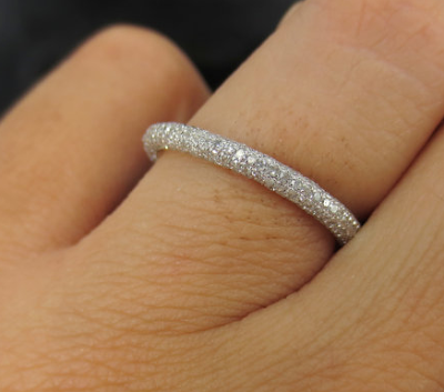 Pave Wedding Bands Are Favored For Its Style And Dazzling Grace