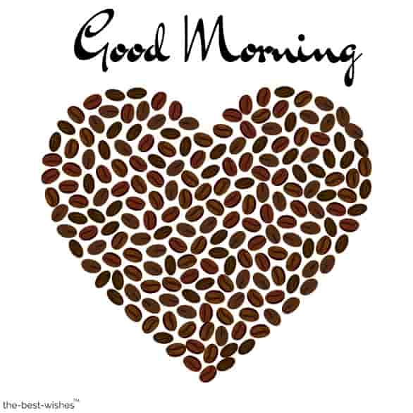 good morning with beans love heart romance