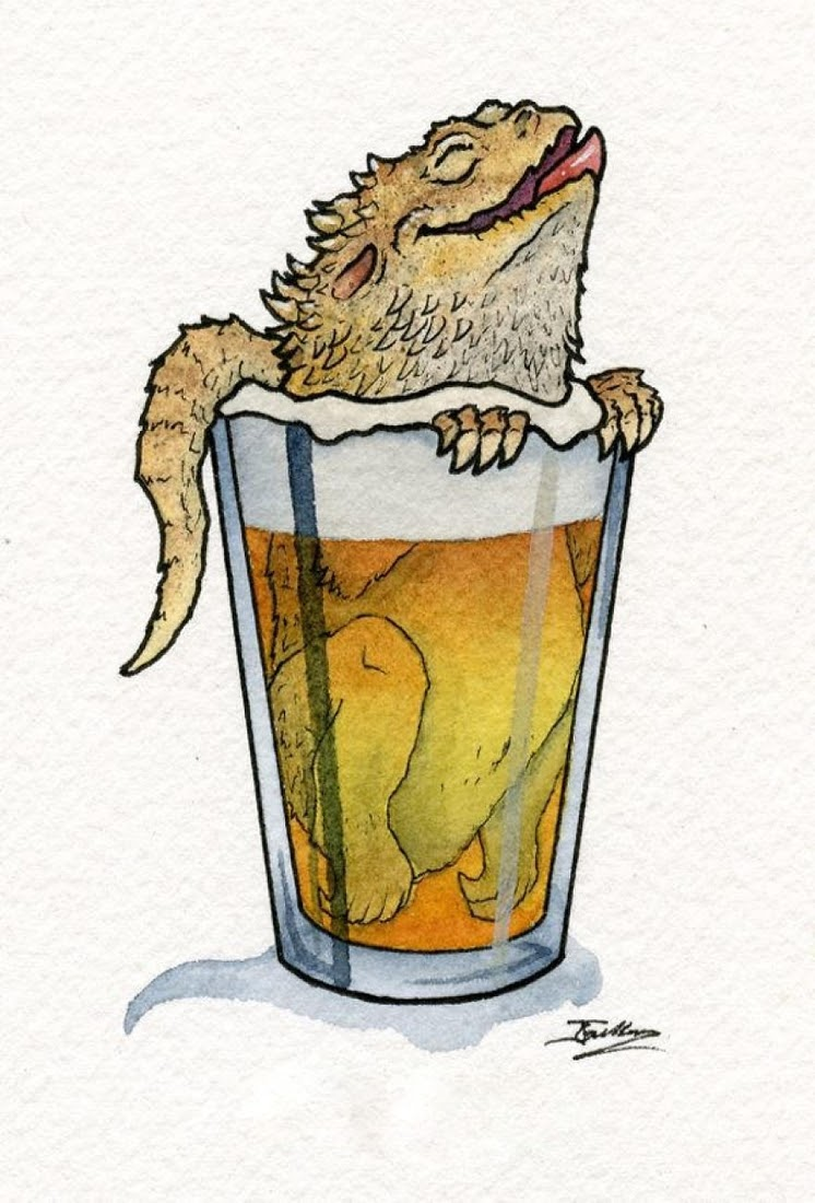 08-Bemused-Bearded-Dragon-Jon-Guerdrum-Drawings-of-Surreal-Drinking-Visions-of-Animals-www-designstack-co