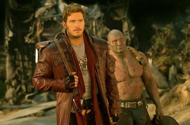 Pratt y Bautista en Guardians of the Galaxy Vol 2