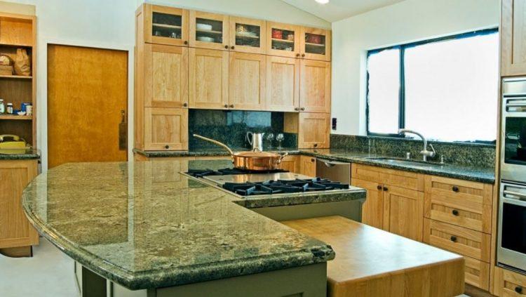 Granite Kitchen Countertop Ideas Part - 50: Emerald Green Granite Kitchen Countertop Ideas