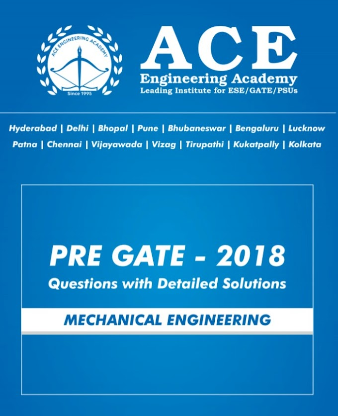 ACE ACADEMY PRE GATE 2018 [MECHANICAL ENGINEERING]