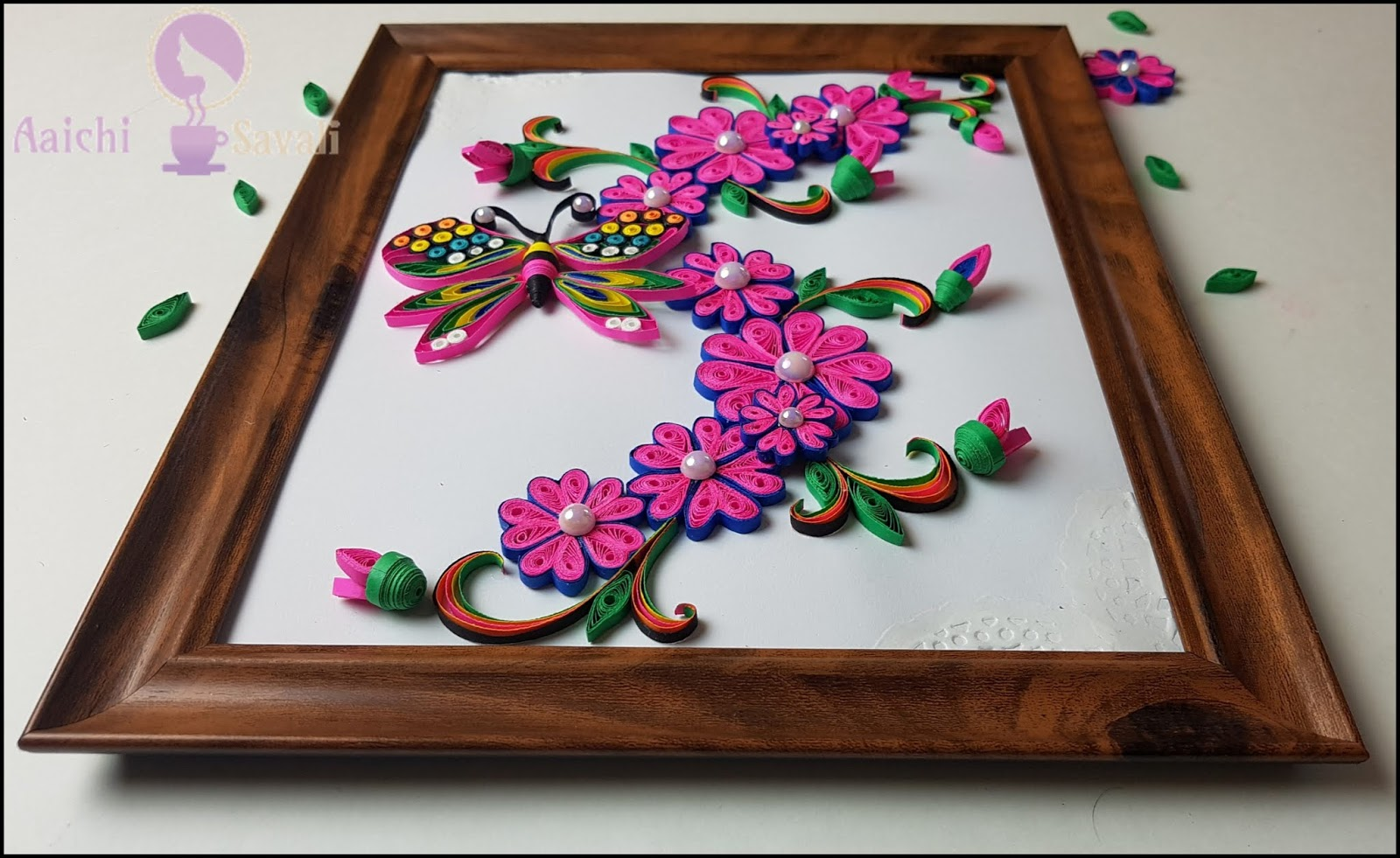 Learn To Quill Unique And Beautiful Quilled Flower Frame For Home