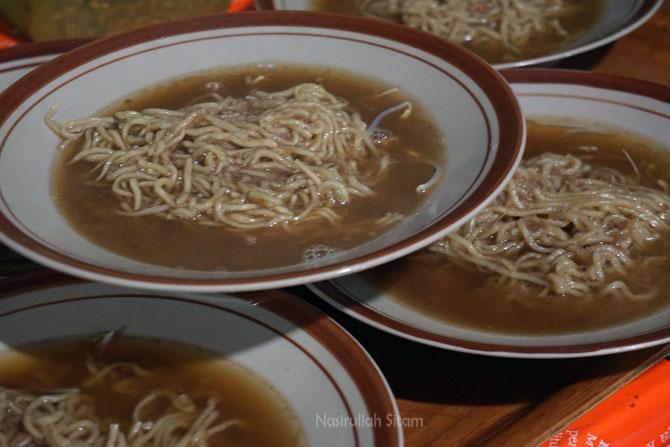 Kuliner Mie Koba Bangka siap disajikan