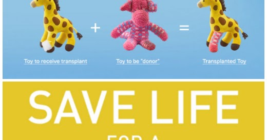 Broken toys raise awareness about organ transplant needs
