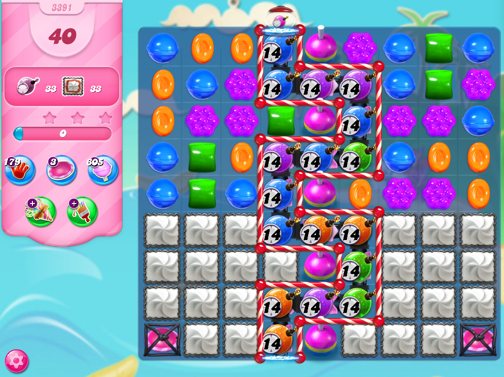 Candy Crush Saga level 3391