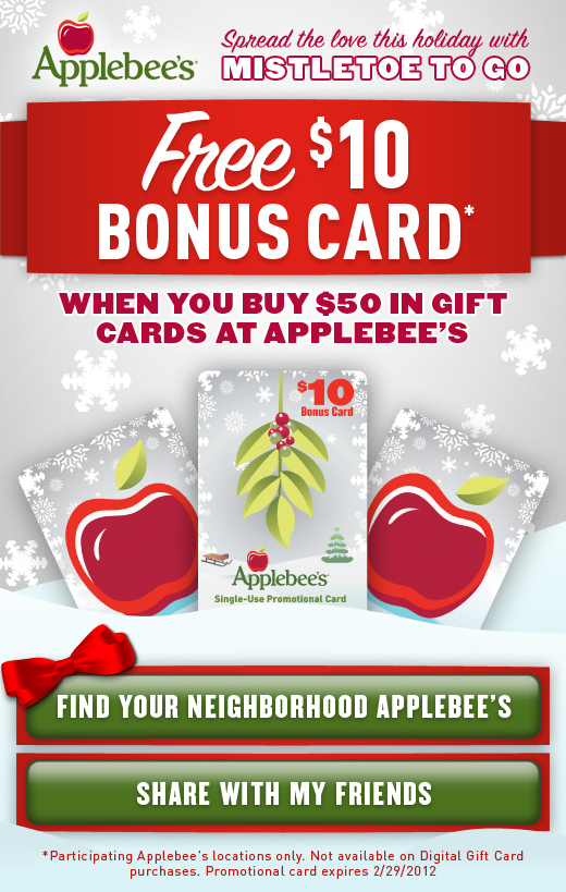 applebees gift card special extreme couponing mommy free 10 applebee s bonus card 4140