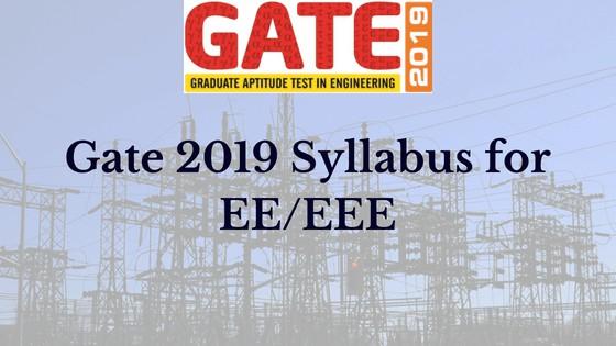 gate syllabus eee 2019