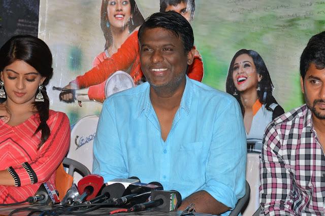 Anu Emmanuel at Majnu Movie Success Meet Photos