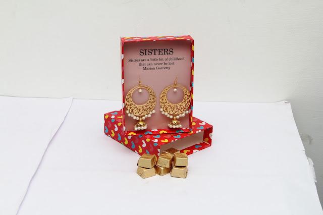 Pretty white Earrings for Sister