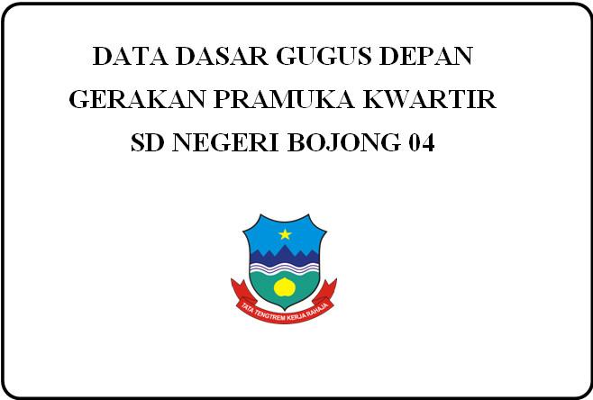 Contoh Data Dasar Gugus Depan Gerakan Pramuka Kwartir SD untukAkreditasi Sekolah