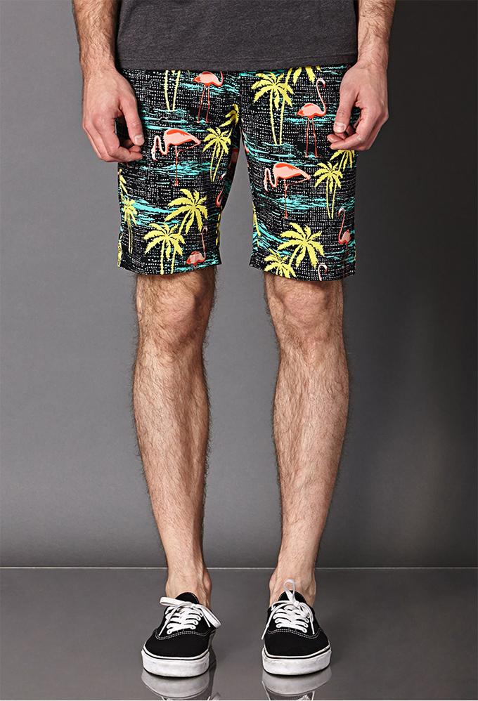 ... Shorts Tropical Masculino Azul e Dockside Marrom!!! Bermuda Resort  Masculina com Tênis vai muito bem  o 3dd5dd7473963