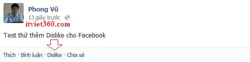 Phong vu, them dislike, thu thuat Facebook